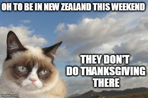 Grumpy cat thanksgiving
