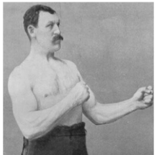 High quality overly manly man blank meme template