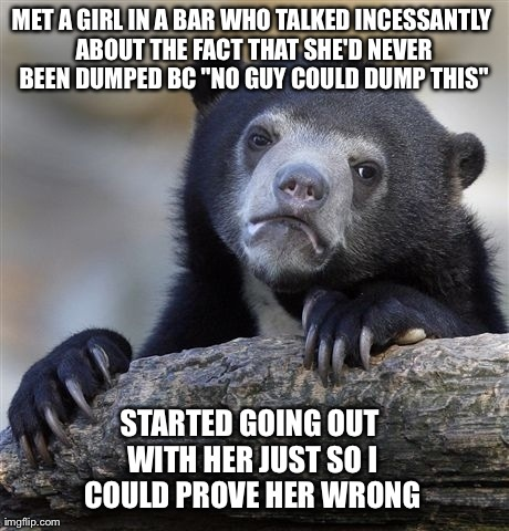 I wanted to be her first