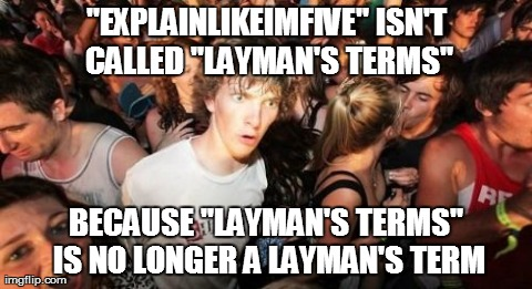WTF is layman's terms?
