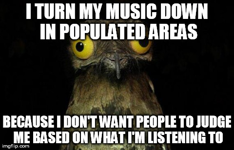 I do quite the opposite while listening to music in the car
