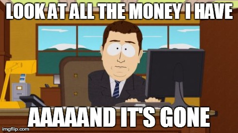 Today's payday... and bill-paying day.