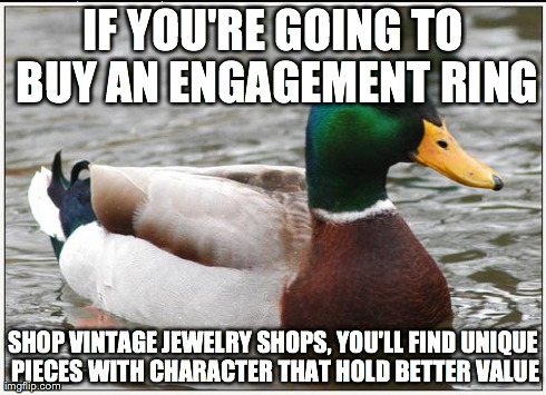 A tip to avoid the arms race that engagement rings represent