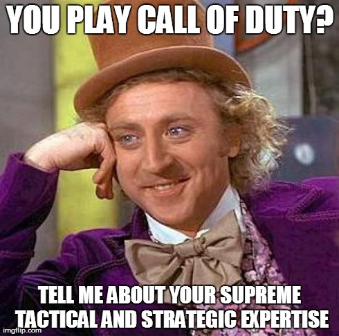 Call of Duty Players and Military Knowledge/Skill