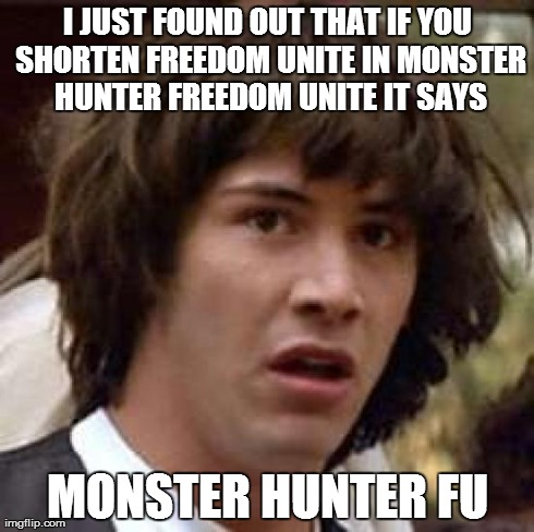 so does it really mean monster hunter fuck you?