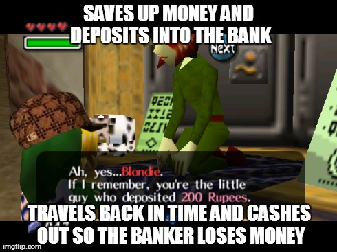Scumbag Link destroying the entire clock town economy