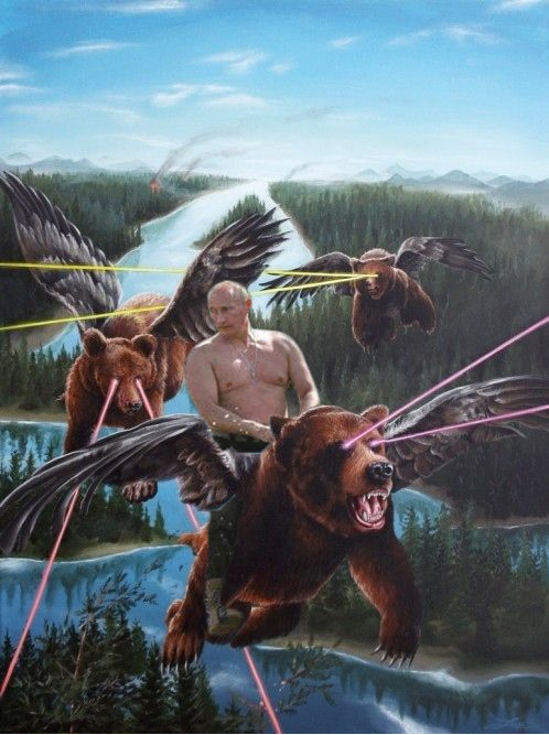 Vladimir Putin on flying bears with lasers and sh*** Seems Legit