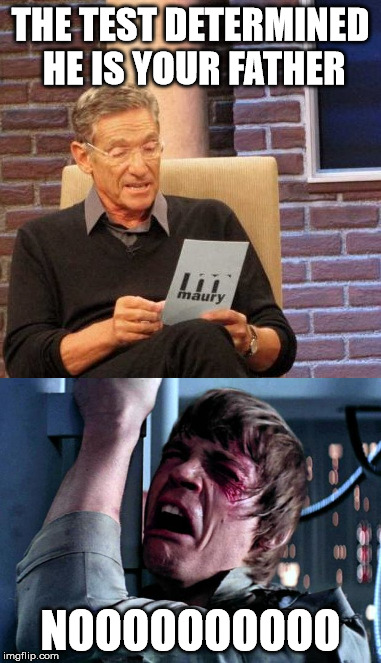 Maury |  THE TEST DETERMINED HE IS YOUR FATHER; NOOOOOOOOOO | image tagged in maury lie detector | made w/ Imgflip meme maker