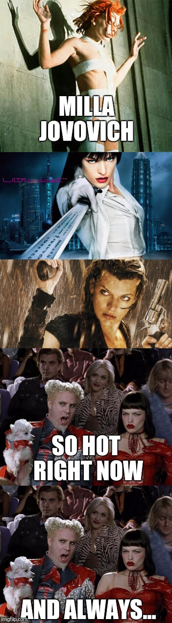 Image result for milla jovovich meme