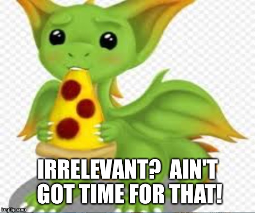 IRRELEVANT?  AIN'T GOT TIME FOR THAT! | made w/ Imgflip meme maker