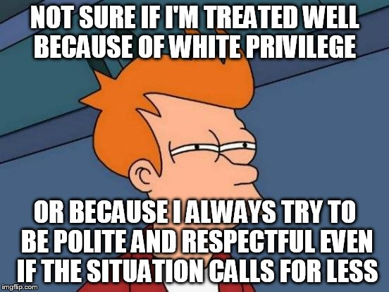"I would like to think it's the latter, and that ""most"" of us would treat each other the same when afforded these.   