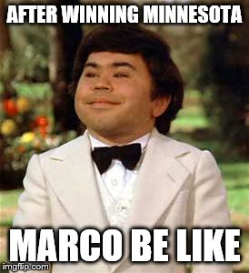 AFTER WINNING MINNESOTA MARCO BE LIKE | image tagged in marco rubio | made w/ Imgflip meme maker