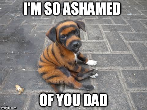 I'M SO ASHAMED OF YOU DAD | made w/ Imgflip meme maker