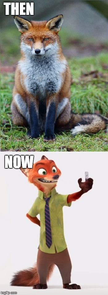 Even They Change |  THEN; NOW | image tagged in memes,funny,then vs now,what does the fox say,wtf happened | made w/ Imgflip meme maker
