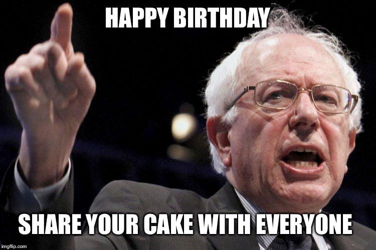 Bernie Sanders Birthday Cake