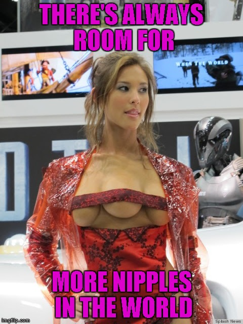 THERE'S ALWAYS ROOM FOR MORE NIPPLES IN THE WORLD | made w/ Imgflip meme maker