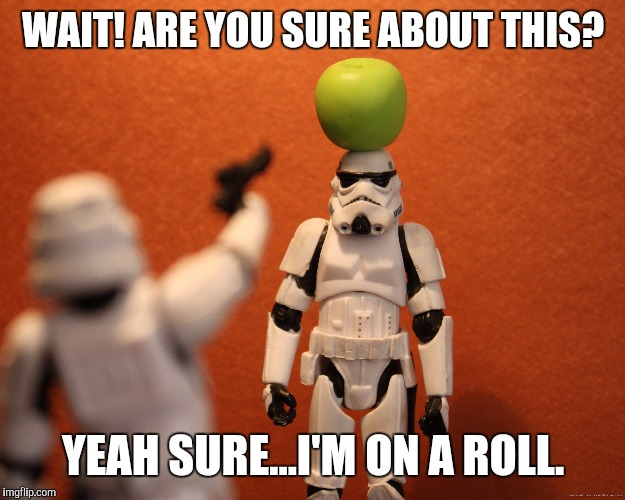 WAIT! ARE YOU SURE ABOUT THIS? YEAH SURE...I'M ON A ROLL. | made w/ Imgflip meme maker