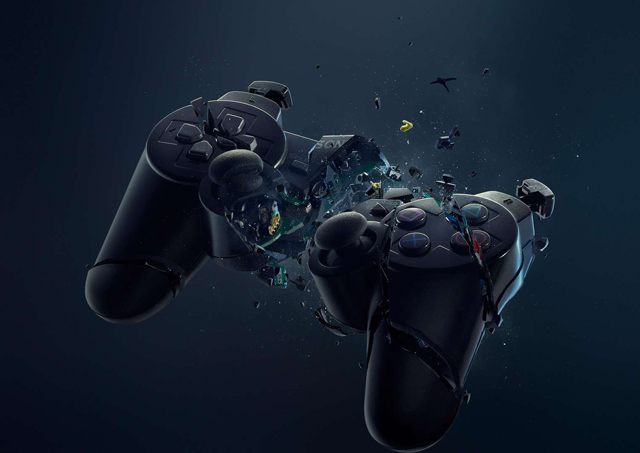 ps4 angry smashed controller blank template imgflip