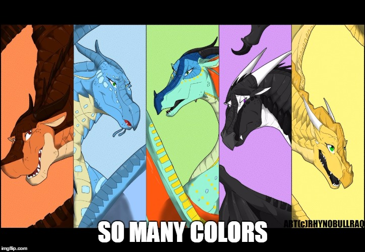 the dragonnettes of wof (please use five for best) | SO MANY COLORS | image tagged in the dragonnettes of wof please use five for best | made w/ Imgflip meme maker