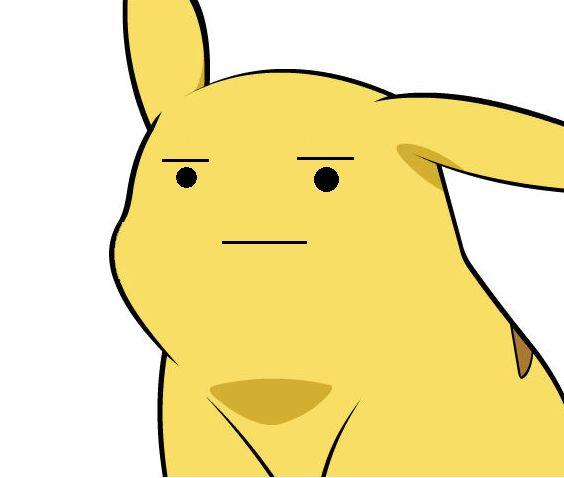 Pikachu Is Not Amused Blank Template - Imgflip