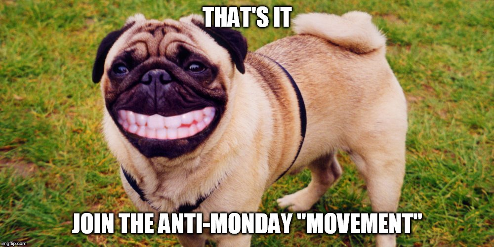 "THAT'S IT JOIN THE ANTI-MONDAY ""MOVEMENT"" 