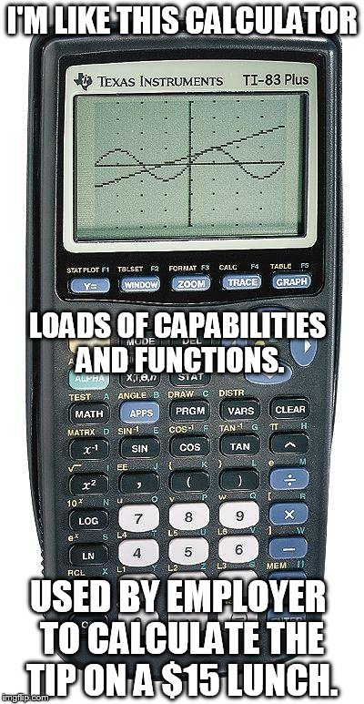 after 32 years in it im like this calculator loads of capabilities and