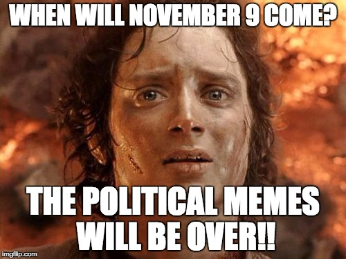 Will it all be over?