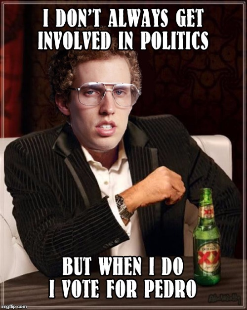 Napolean Dynamite the most interesting man in the world | image tagged in vote for pedro,napolean dynamite,politics | made w/ Imgflip meme maker