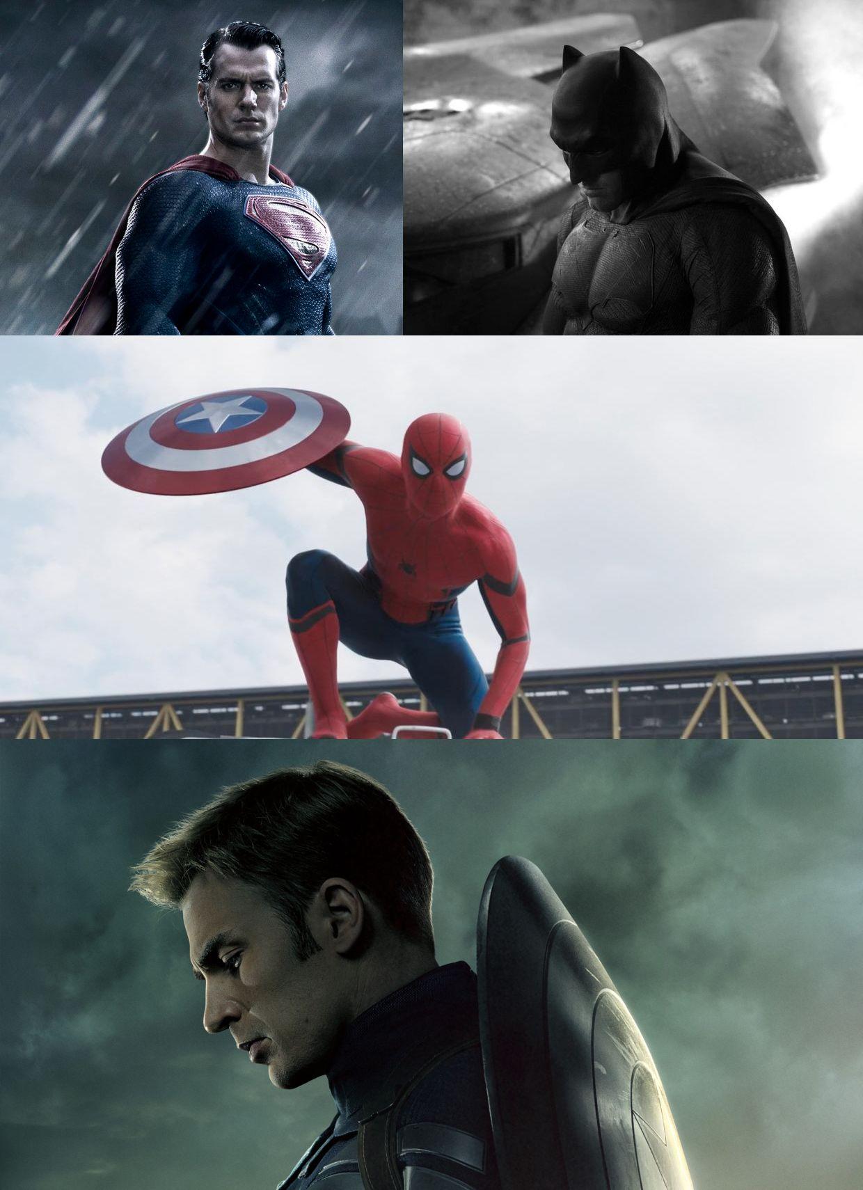 10rk8p dc vs marvel superman batman spiderman captain america blank