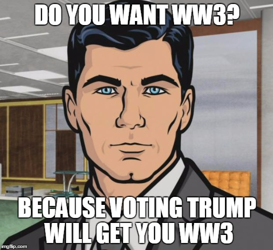 Image result for trump starting ww3 cartoons