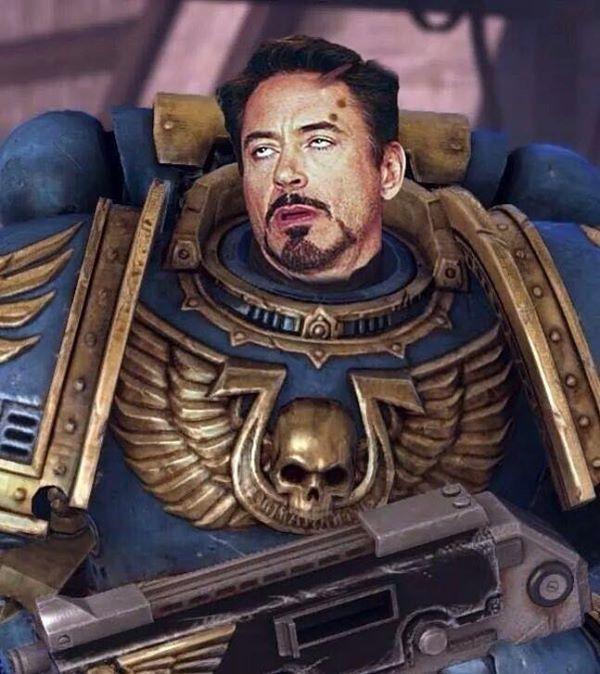 Robert Downey Face Warhammer 40k Blank Template
