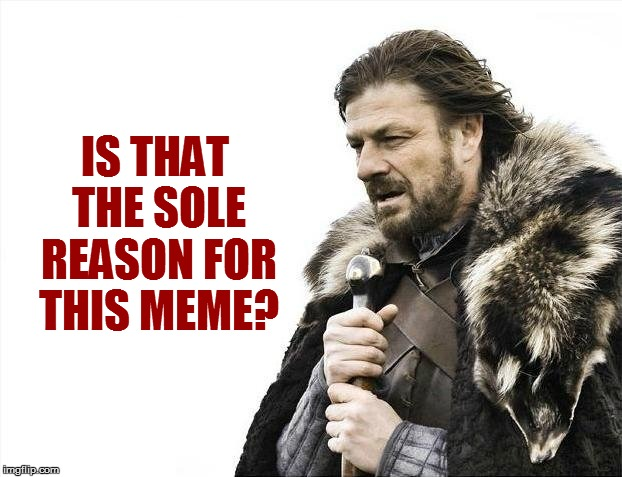 Brace Yourselves X is Coming Meme | IS THAT THE SOLE REASON FOR THIS MEME? | image tagged in memes,brace yourselves x is coming | made w/ Imgflip meme maker