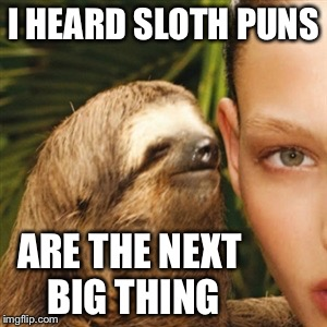 I HEARD SLOTH PUNS ARE THE NEXT BIG THING | made w/ Imgflip meme maker
