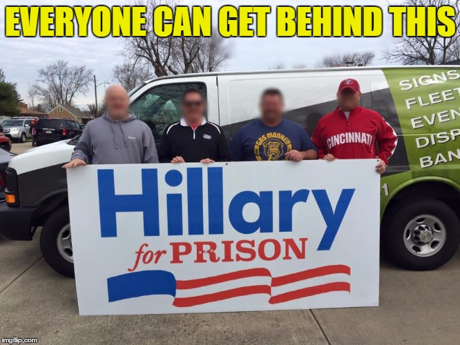a true majority would favor this movement | EVERYONE CAN GET BEHIND THIS | image tagged in hillary2016,election 2016,memes,funny memes | made w/ Imgflip meme maker