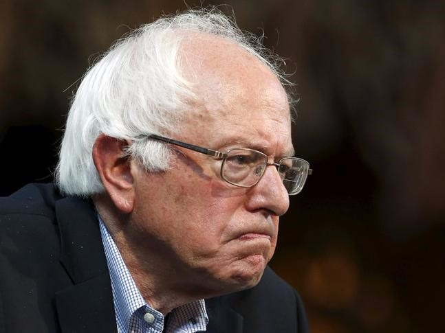 Image result for sad Bernie Sanders""