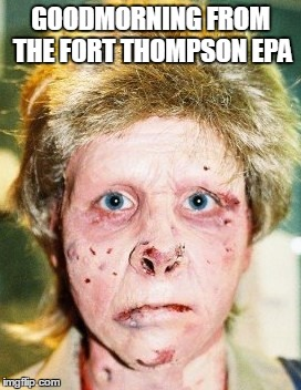methhead |  GOODMORNING FROM THE FORT THOMPSON EPA | image tagged in methhead | made w/ Imgflip meme maker