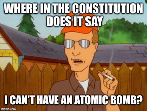 "Recent SCOTUS opinion on the Second Amendment held ""arms"" included weapons other than firearms 