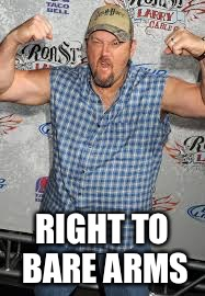 RIGHT TO BARE ARMS | made w/ Imgflip meme maker