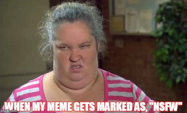 "Mama Bear isn't suitable for work... | WHEN MY MEME GETS MARKED AS, ""NSFW"" 
