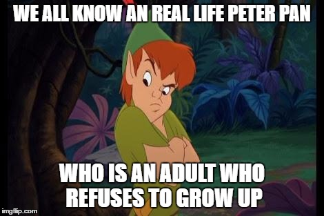 Image result for peter pan meme