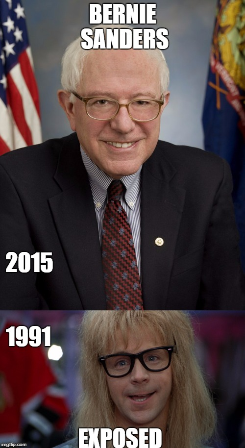#exposed | BERNIE SANDERS EXPOSED 2015 1991 | image tagged in exposed | made w/ Imgflip meme maker
