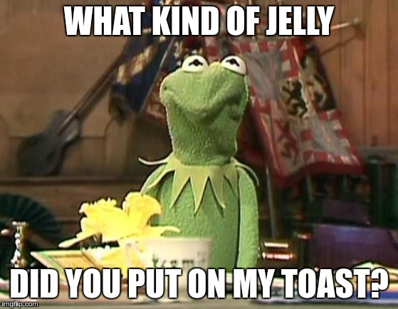 WHAT KIND OF JELLY DID YOU PUT ON MY TOAST? | made w/ Imgflip meme maker