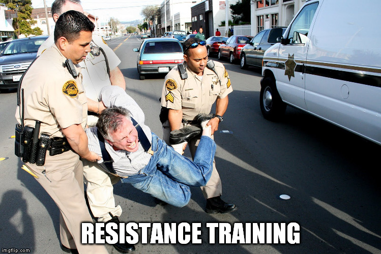 RESISTANCE TRAINING | made w/ Imgflip meme maker