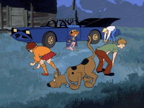 Scooby and gang search look Blank Meme Template