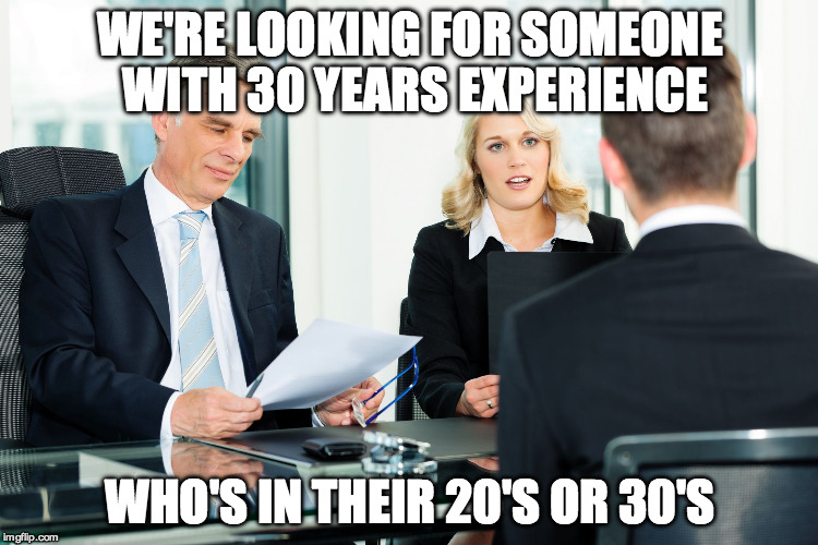 Image result for job experience meme