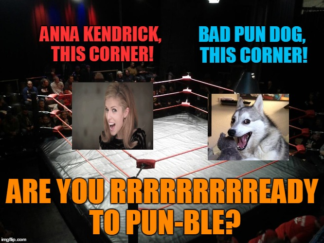 Have you got your tickets? :) |  BAD PUN DOG, THIS CORNER! ANNA KENDRICK, THIS CORNER! ARE YOU RRRRRRRRREADY TO PUN-BLE? | image tagged in memes,anna kendrick,bad pun dog,bad pun anna kendrick,imgflip,meme war | made w/ Imgflip meme maker