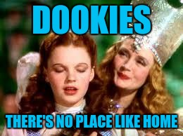 wizard of oz | DOOKIES THERE'S NO PLACE LIKE HOME | image tagged in wizard of oz | made w/ Imgflip meme maker