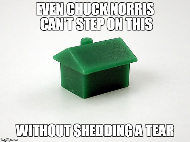EVEN CHUCK NORRIS CAN'T STEP ON THIS WITHOUT SHEDDING A TEAR | image tagged in meme,memes,monopoly,chuck norris | made w/ Imgflip meme maker