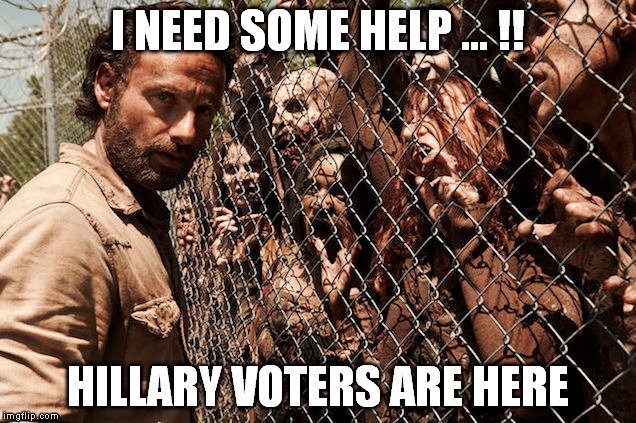I NEED SOME HELP ... !! HILLARY VOTERS ARE HERE | made w/ Imgflip meme maker