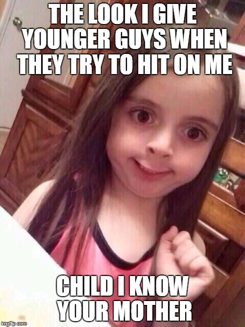 Funny Little Girl Face Meme : Little girl funny smile imgflip